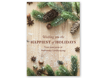 Rustic Barn Board Front Imprint Holiday Cards